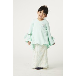 Mon Bijou Peplum Kurung Set in Mint Green