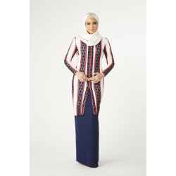 L'amour Modern Kebaya in Dark Blue