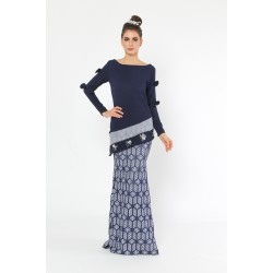 Ma Lolita Kurung in Dark Blue