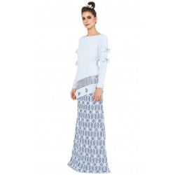 Adoree Kurung in Light Blue